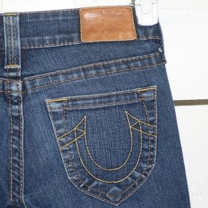 True religion flare womens jeans sz 27 x 33 --5402